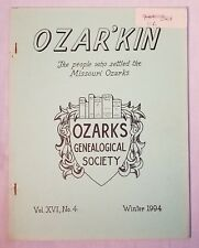 Ozar'kin Winter 1994 Ozarks Genealogical Society Births Marriages Bible Records