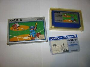 Baseball Silver Box Picture Label Famicom NES Japan import complete US Seller