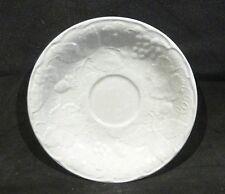 Burleigh Ware WHITE DAVENPORT SAUCER 14.5 cm diameter