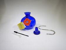 Hummingbird Hand-Blown Glass Ornament Feeder Blue - by Kitras Art Glass T3