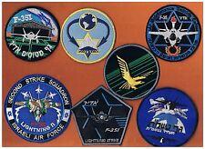 """ISRAEL IDF AF  F-35I  LIGHTNING """"ADIR"""" A COMPLETE SET OF ALL  F-35I PATCHES"""