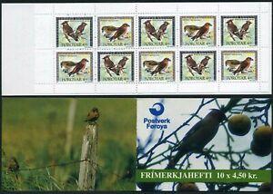 Faroe 300-301a booklet,MNH.Michel 298-299 MH 11. Birds 1996:Laxia,Bombycilla