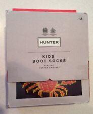 New Hunter Original Kids Wellington Boot Socks Crabs Burgundy  Medium