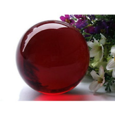 EPIC STONE-40mm-NATURAL OBSIDIAN POLISHED RED CRYSTAL SPHERE w Stand