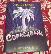 Theatre Programme for COPACABANA - starring Gary Wilmot