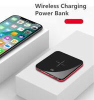 Qi Wireless Portable Power Bank 10000 mAh Fast Charging USB LED Screen