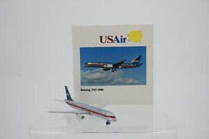 Vintage Herpa Wings US Air Boeing 757-200 1:500 Diecast Model Airplane 503686