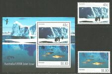 Australia 1990 Antarctic Research Cooperation-Attractive Topical (1182-83a) Mnh
