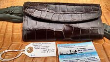 American Alligator Ladies French Purse Wallet Swamp Skin Gator Hide leather IZK
