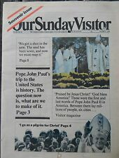 Vintage Newspaper Our Sunday Visitor Pope John Paul II Tuesday, Oct. 21, 1979