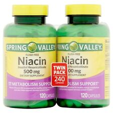 Spring Valley Niacin 240 caps metabolism heart health support energy production
