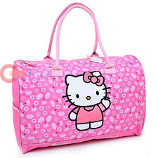 "Sanrio Hello Kitty Duffel Bag Travel Gym 20"" Large Bag Pink Canvas"