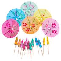 50-144pcs Umbrella Paper Cocktail Decoration Summer Hawaiian Party Drink Sticks