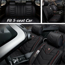 Deluxe 6D Surround PU Leather Car Seat Cover 5 Seats SUV Front & Rear Cushions