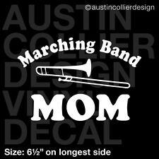 "6.5"" MARCHING BAND MOM w/ TROMBONE vinyl decal car window laptop sticker"