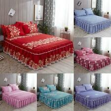 Bed Skirt Princess Bedspread Bedding Sheets Single Double Pillow Case Size Sheet