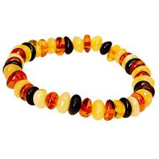Lovely Multicolour Baltic Amber Adult Stretch Bracelet