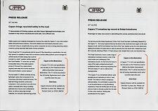 Caparo T1 3 X 2008 mercato del Regno Unito comunicati stampa