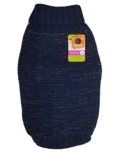 New Top Paw Dog Sweater Navy Blue Size M Reflective Yarn New