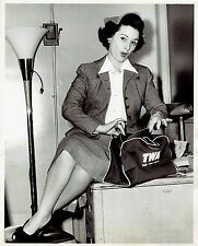 1955 Original Photo by TWA AIRLINES opera singer Mimi Benzell & handbag fashion