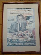 Affiche publicitaire cigarettes CHESTERFIELD présenté par Ronald Reagan 64 X 83