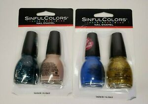 2-Sinful Colors Nail Enamel Pack of 2- #2508 Roar, #2524 Candy Ginger, Pop Queen