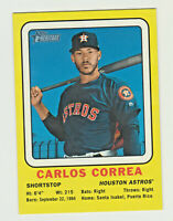 2018 Topps Heritage High 1969 COLLECTOR CARD CARLOS CORREA Astros TARGET RETAIL