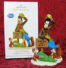 HALLMARK 2012 DISNEY REVEAL ORNAMENT~HALF-OFF HIJINKS~GOOFY and CHIP 'n' DALE