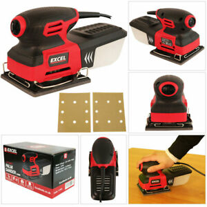 Heavy Duty 240W Electric Detail Palm Sander Sheet Sanding & Dust Box 240V