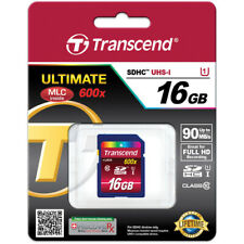 Transcend 16GB SDHC Class 10 UHS-1 Flash Memory Card Up to 90MB/s