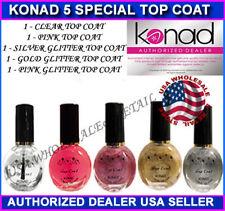 5 Konad Stamping Nail Art GLITTER TOP COAT POLISH GOLD