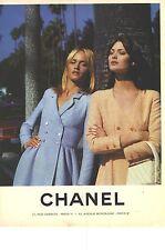 PUBLICITE ADVERTISING  1996  CHANEL haute couture collection manteaux printemps