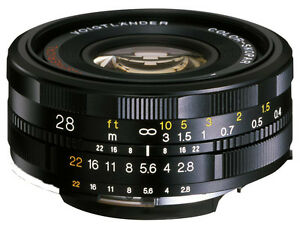 Brand New Voigtlander Color-Skopar 28mm F2.8 SL II N Aspherical Canon EF EOS