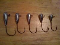 "25 Tube Head Jigs 5/16oz 2/0, 3/0 or 4/0 Hook Bass Crappie Fish "" Fast Shipping"""