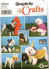 2001 SIMPLICITY Pattern 9884 DOG COATS & COSTUMES UnCut $12.95