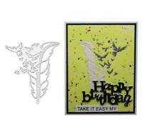 Adler Feder Metall Stencil Cutting Dies Scrapbooking Tier Stanzschablone Karte