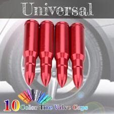 4PCS Red Universal Bullet Car Wheel Tyre Valve Stems Air Dust Cover Screw Cap