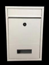 BIANCO chiudibile a chiave CASSETTA POSTALE CASELLA POSTALE per esterni parete Posta Posta Lettera Scatola Home