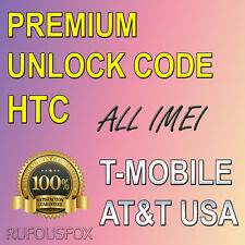T-MOBILE AT&T US Canada UK Unlock Code HTC One S V X M6 M7 M8 A9 8X 8S Desire HD