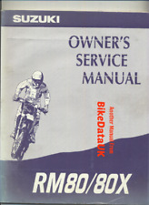 Suzuki RM80-R (1994) Factory Owners Maintenance Manual Repair Book RM 80 X BS99