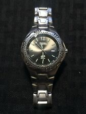 """Fossil Blue AM-3423 Stainless Steel Watch 7 1/2"""" Band Lot#A105"""
