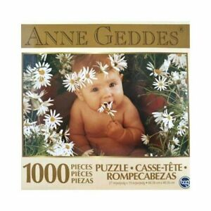 SURE LOX 1000 PIECE PUZZLE ANNE GEDDES DAISIES  68.58CM X 48.26CM