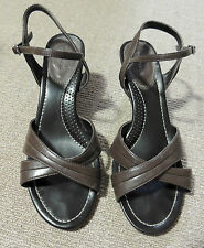 TARGET BROWN STRAPPY WEDGES. SIZE 8