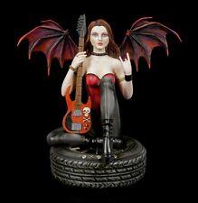 Dark Angel Figur - Coctura mit E-Gitarre - Fantasy Fee Engel Musiker Dekostatue