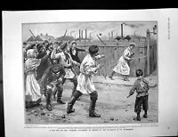Antique Print Strikers Attack St Petersburg Royal Mail Steamer Aragon 1905 20th