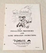 Gottlieb Golden Arrow Pinball Machine Original Manual Nos! Free Shipping! New!