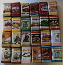 Dollhouse Miniature Boxes of Food w/Old Fashioned Labels, Pkg of 24
