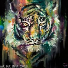 Hand-painted Animal Oil Painting Art On Canvas Tiger Head 24x24inch Unframed