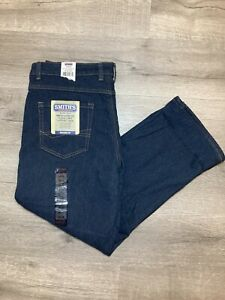Smith's Stretch Fleece Lined Relaxed Jeans Dark Blue Stonewash 38x30 NWT