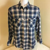 Levis Mens Shirt Medium Long Sleeve Blue Gray Pink Plaid Free Shipping
